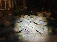 Brick rubble hardcore bricks