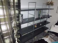 Modern four shelved display /storage unit