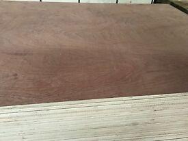 18mm marine/exterior grade plywood hardwood throughout 8x4 sheets