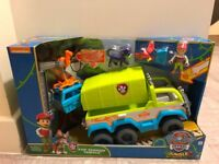 Paw Patrol Jungle Rescue Terrain Vehicle Rescue Set Truck And Ryder - Brand New