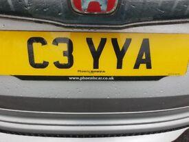 Personalised reg plate ***C3YYA***