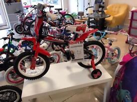 "Brand New 14"" Childs Motocross Style Bike"