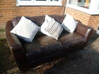 Quality Leather 3 seater BOSTON sofa FREE DELIVERY