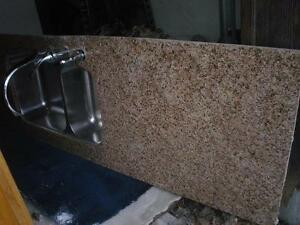 granite counter tops and sink