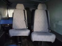 Van seats with built in seat belts