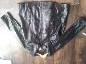 women's woodland leather coat