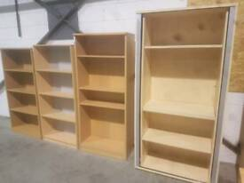Bookcases and Display Units - Light / Dark Coloured Wood Bookcases and Display Units
