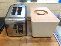 Breville Toaster & free Joseph Joseph Bread Bin