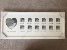 My First Year White Wooden Phote Frame - Brand New