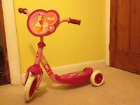 Barbie 3-wheeled scooter
