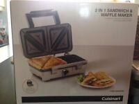 Cuisinart 2-in-1 Sandwich & Waffle Maker
