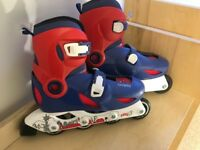 Oxelo Childs Roller Blades - Red / Blue, Size UK 1.5/3