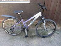 ladies giant mountain bike 21speed gears 16 inch aluminium frame £60.00