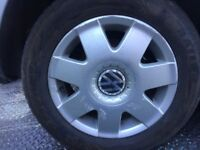 Vw alloys. With tyres. Removed from golf. £70