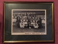 Hibernian FC framed picture 1950 - 1951 League Champions