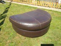Dark brown leather foot stool
