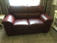 Burgundy Leather Sofa's Excellent Condition