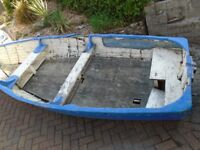 Free 12ft boat. In need of repair or suitable for garden feature