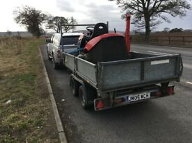 4 x 4 truck c/w trailer available for hire