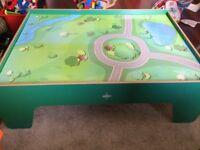 Carousel train/road play table