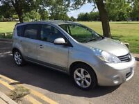 2009 NISSAN NOTE 1.6 N-TEC MODEL,SILVER,SAT NAV,ALLOY WHEELS,PETROL,SINGLE LADY OWNER,12MTHS MOT