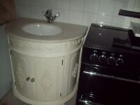 Marble Topped Wash Basin / Cupboard Unit