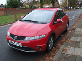 Honda Civic, VTEC, 1.4, 2010 Reg (60), Manual, Petrol, 57800 miles, 2 Former Owners