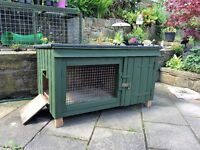 Joiner made rabbit hutch