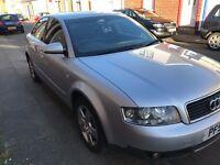 Audi A4 SE Saloon 1.9 TDI 2002 (131 bhp) Full Black Leather 6 Months MOT