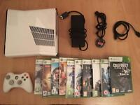 Xbox 360 SLIM console with 10 games - £89