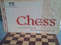 "Wooden Chess Set and matching board in ""as new"" condition. Was bought for a non-player!"