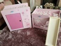 Baby born doll wardrobe and bunk bed