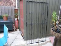 "black wrought iron gate height 72"" width 39"""