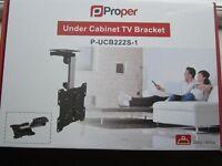 Proper under cabinet TV bracket