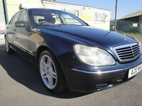 MERCEDES BENZ, S320, 2002, CDI AUTO,BLUE, 73,800, S CLASS, ROMULUS, 4 PIPE, FSH, XENONS, SAT NAV,