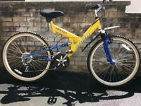 Stalker Storm full suspension frame mountain bike