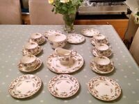Royal Worcester 21 piece Tea Service. 1930's pretty butterfly design
