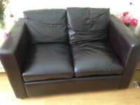 Faux leather sofabed
