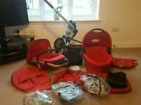 Red Quinny Pram Buggy Pushchair