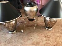 Antique lamps 5 piece set