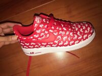 Nike air force 1 07 white and red