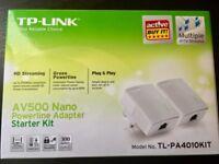 TP-LINK TL-PA4010KIT AV500 500 Mbps Nano Powerline Adapter