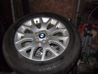 BMW X5 E70 GENUINE WINTER WHEELS AND TYRES 255/55/18 CONTINENTAL WINTERCONTACT