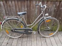 Silver Ladies Dutch-Style Bike