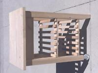 Solid wood kitchen cart