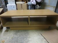 Beech effect TV unit and coffee table