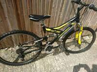 Teenagers to adults mountain bike good working order Full suspension and front disc brake