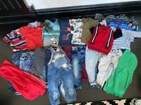 Baby boys clothes bundle jeans tops designer age 12-18 months