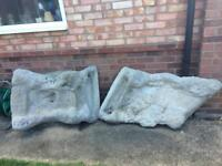 2 section Concrete Pond Waterfall - Cascade Water Feature