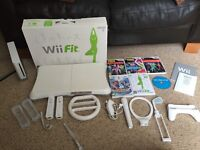 Nintendo Wii AND Wii Fit Board AND Various Wii Games & Accessories